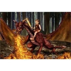 Draak-vuur-Sprookjesfoto: Uw kind als elfje op de foto!