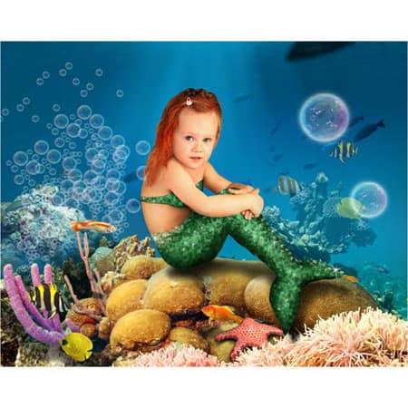 Zeemeermin-02-Sprookjesfoto: Uw kind als elfje op de foto!
