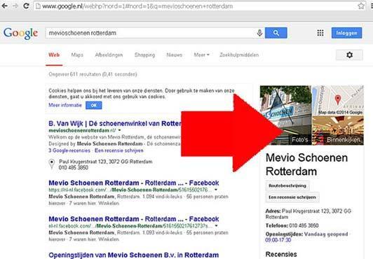Waar komt het op Google