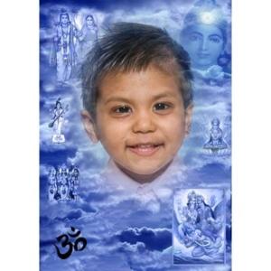 special-000b-De foto van uw kind met een speciaal kader: Speciaal gemaakt voor Hindoe-onderwijs