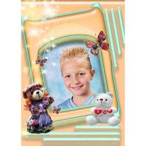 special-10-De foto van uw kind met een speciaal kader er omheen