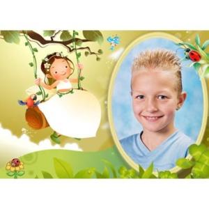 special-25-De foto van uw kind met een speciaal kader er omheen