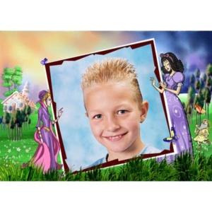 special-27-De foto van uw kind met een speciaal kader er omheen